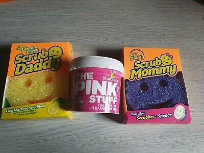 Lemon Fresh Scrub Daddy & Pink Stuff & scrub mommy bundle cleaning