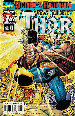 THOR Vol.2 # 1<>MARVEL COMIC<>1998<>DAN JURGENS / JOHN ROMITA jr.<>nm  ~