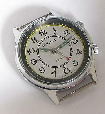 EXPORT POLJOT SIGNAL USSR Buzzing ALARM NAVY MILITARY watch 1MCHz 1970s SERVICED
