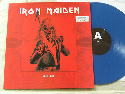 IRON MAIDEN live hammersmith years1982...VINYL BLUE...SK RECORDS-SK 6660701