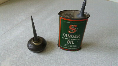 Vintage Singer Sewing Machine Oil Can And One Small Other Sewing Machine Can