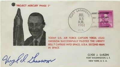 Project Mercury Port Canaveral 1961 Cover with Gus Grissom Facsimile Autograph