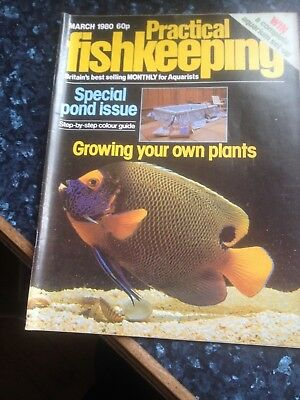 PRACTICAL FISHKEEPING  March 1980,Special pond issue.