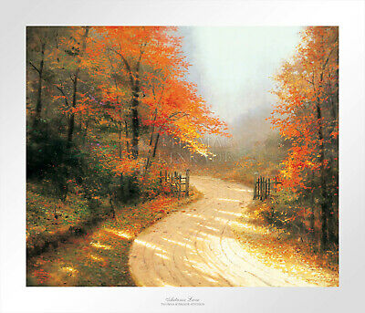 Autumn Lane Signed Lithograph by Kincade 24x20 (Original Collection)