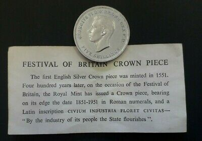 1951 Festival of Britain Crown coin (King George VI) - in box with certificate