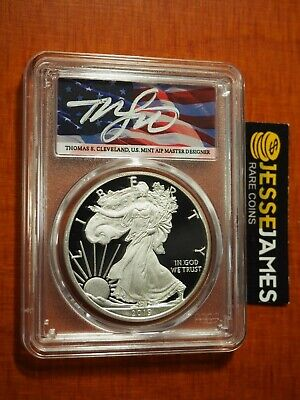 2019 W Proof Silver Eagle Pcgs Pr70 Flag Cleveland First Strike Low Pop 40