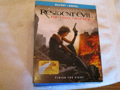 Blu Ray Movie Resident Evil The Final Chapter Milla Jovovich W/Sleeve