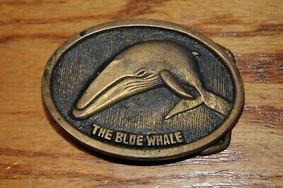 Vintage Solid Brass (The Blue Whale) Belt Buckles Belt Buckle Accessories Whale.