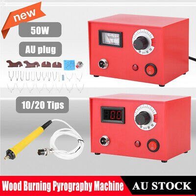 50W Multifunction Wood Burning Pyrography Machine Kit Wood Crafts Burning Tools