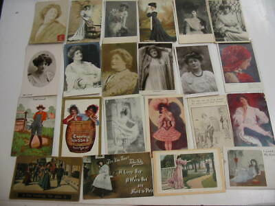 25 Older Pretty Ladies Postcard Lot 1