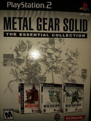 Metal Gear Solid: The Essential Collection | Sony PlayStation 2 | PS2 3-Disc Set