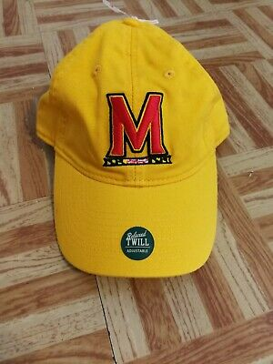 outlet store d0671 3c6f0 Maryland Terps Terrapins Ncaa College Legacy Yellow Hat Cap Adjustable One  Size