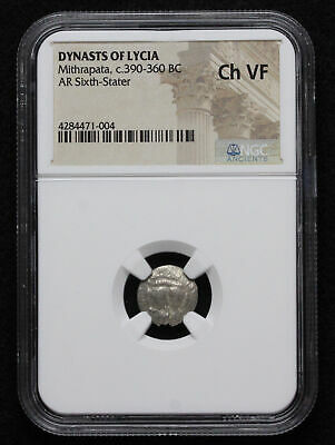 DYNASTS of LYCIA, Mithrapata. Silver 1/6 Stater, 390-360 B.C. NGC Ch VF