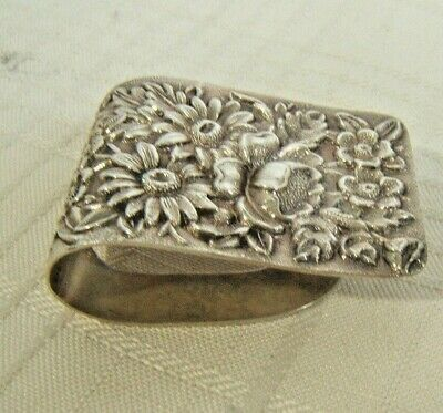 S Kirk & Son Sterling Silver Repousse Napkin Clip