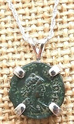 Ancient Roman Imperial Coin of Theodosius the Great 925 Sterling Silver Necklace