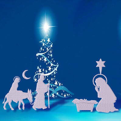 NATIVITY SILHOUETTES  10 MACHINE EMBROIDERY DESIGNS CD or USB