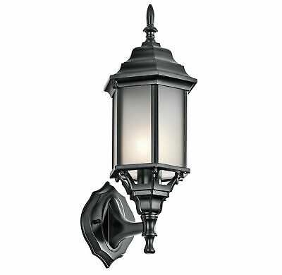 Kichler 49255BKS Chesapeake 1-Light Outdoor Wall Sconce - Black (Painted)
