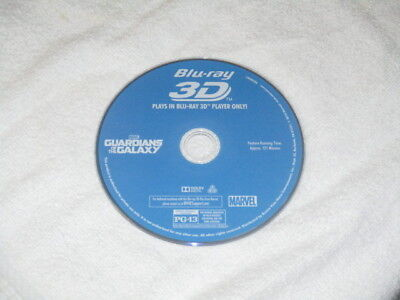 3D Movie Blu Ray GUARDIANS OF THE GALAXY RACOON MARVEL COMICS DISC ONLY^**