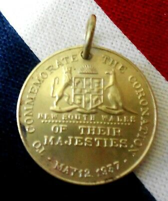 Medallion To Commemorate The Coronation Of Their Majesties May 12 1937 Nsw