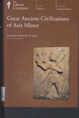 DVD~GREAT ANCIENT CIVILIZATIONS OF ASIA MINOR by THE GREAT COURSES~ 4 DVDs +BOOK