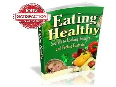 Eating Healthy PDF Ebook+Bonus books+Free shipping+Master Resell Rights