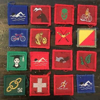 AWARD BADGES 16 Boy SCOUT Girl Guides Cubs Pioneers Cloth Patches Australian