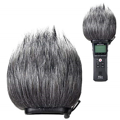 Zoom H1n Recorder Furry Outdoor Windscreen Muff Handy Portable Recorder Pop F...