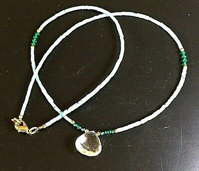 afghan necklace turquoise emerald crystal vintage roman tribute ancient style