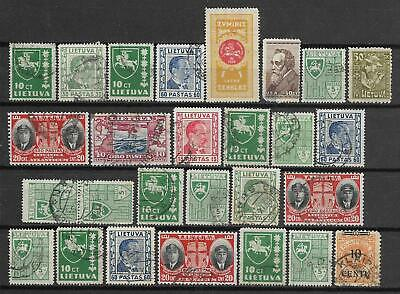 Lithuania small lot of used stamps Lietuva Old