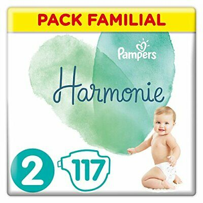 Pampers - Harmonie - Couches Taille 2 4-8 kg - Pack Familial117   (Taille 2)