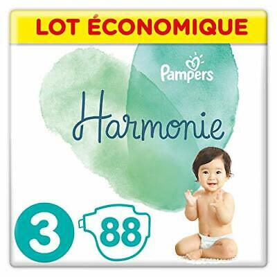 Pampers - Harmonie - Couches Taille 3 6-10kg Hypoallergénique - Lot (Taille 3)