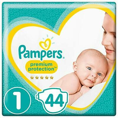 Pampers Premium Protection Taille1, 44Couches, 2kg-5kg - Lot de 2 (Taille 1)