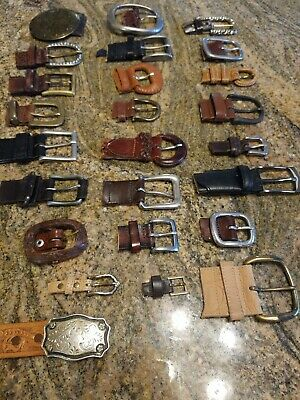 Lot of 25 Belt Buckles Repurpose  Craft Jewelry Metal Brass Retro vintage