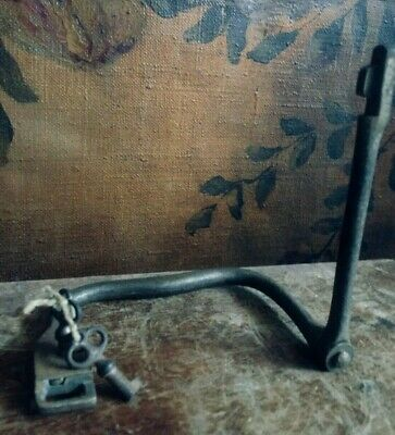 Antique/Vintage Cast Iron Handcuffs Complete With 2 Original Keys/Working