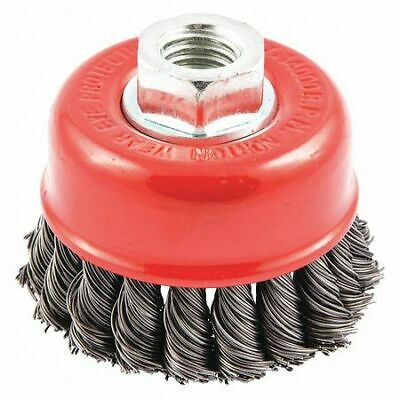 NORTON 66252838872 Knot Wire Cup Brush,Threaded Arbor Moun