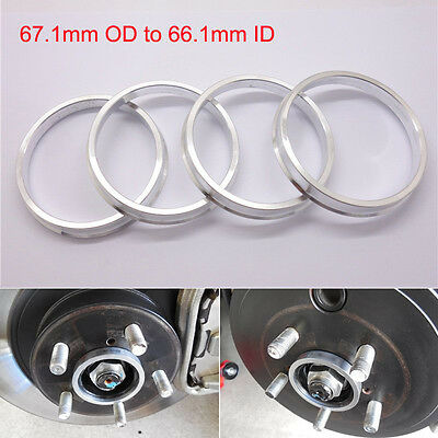 Set 4x Spigot Rings 68,1-63,4 Car Alloy Wheel Hub centric space 68.1 to 63.4 mm