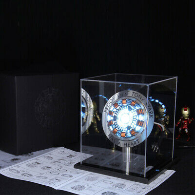Avengers 1:1 Iron Man Arc Reactor Action Figure MK1 Ironman Toy With LED Light