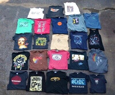 Lot of 23 Rock & Roll T-Shirts/Hoodie Vintage & Contemporary Jam Bands Ect.