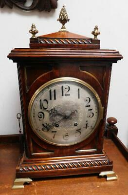 large oak cased 1/4 strike ting tang bracket clock