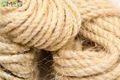 New Natural Sisal Rope Hemp Craft Twisted Twine Braided Rope Cat Scratching 20m