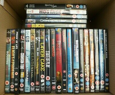 DVD Bundle of Action Movies. Job Lot 25 DVD's Film Selection