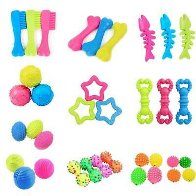 Pet Chew Toys Soft Small Rubber Bone Squeaky Toys For Puppy Dog Cat Toy U3L3