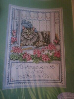 'A Cottage Cat' Sampler cross stitch chart(only)
