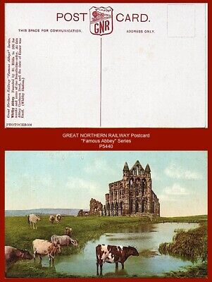 "Great Northern Railway GNR Postcard ""Famous Abbeys"" Series - ""WHITBY ABBEY..."""