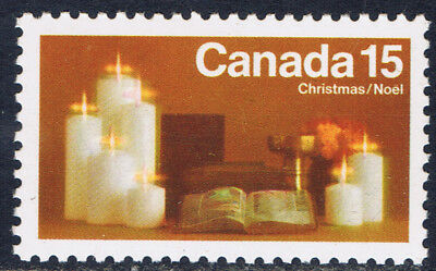 Canada #609(2) 1972 15 cent Christmas Candles Untagged MNH