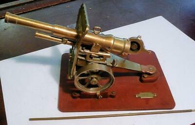 antique brass and copper model field artillery cannon WWI