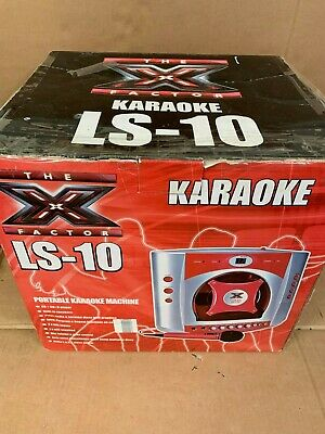 X Factor Portable Karaoke Machine LS-10 With Two Microphones