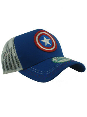separation shoes abca0 3c936 New Era Captain America 9forty Adjustable Hat Marvel Heroes Red White Blue  NWT