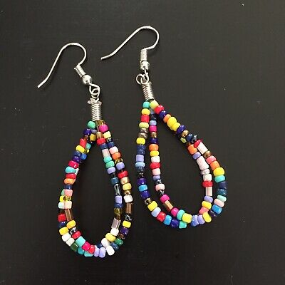 earring antique afghan tiny roman glass seed small strand beads ancient old rare