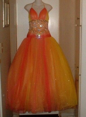 Posh Precious Prom Tulle & Crystals Party Prom Pageant Dress Size 6 Wow!